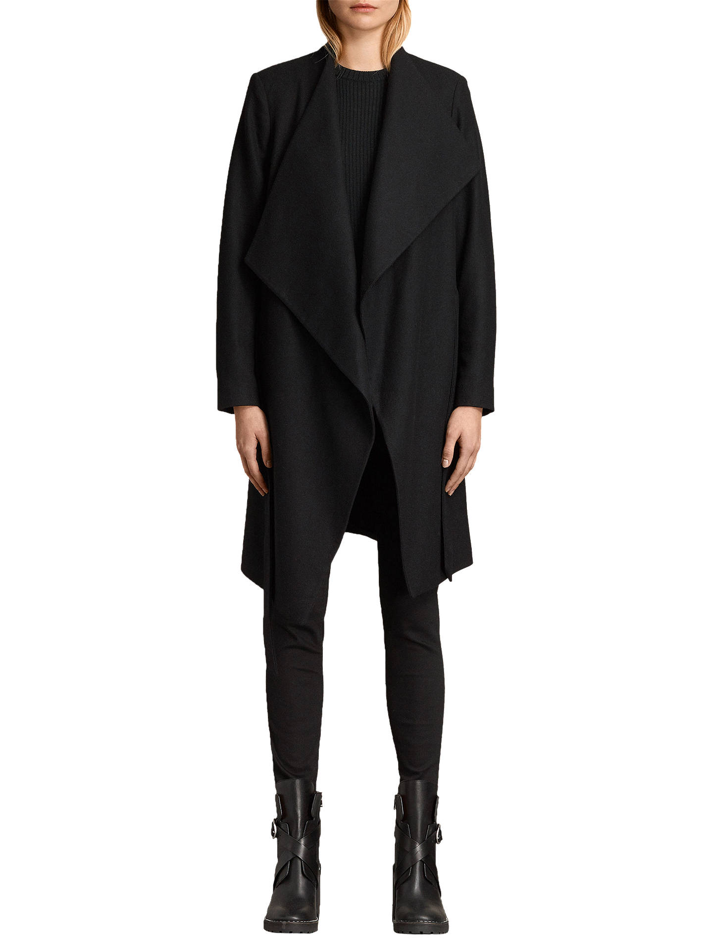 02b61eeac961 AllSaints Lora Wool Blend Coat at John Lewis   Partners