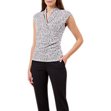 Buy Hobbs Lydia Abstract Print Sleeveless Top, Black/Ivory Online at johnlewis.com