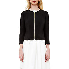 Buy Ted Baker Heraly Scallop Detail Cropped Jacket Online at johnlewis.com