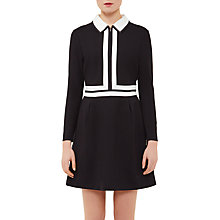 Buy Ted Baker Colour By Numbers Preema Collar Detail Dress, Black Online at johnlewis.com