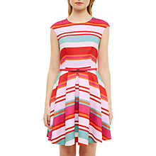 Buy Ted Baker Mayya Pier Stripe Skater Dress, Fuchsia Online at johnlewis.com