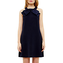 Buy Ted Baker Trixia A-Line Halterneck Bow Dress, Dark Blue Online at johnlewis.com