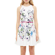 Buy Ted Baker Passion Flower Samm Skater Dress, Ivory Online at johnlewis.com