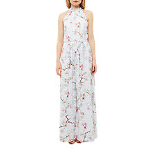 Buy Ted Baker Tie The Knot Elynor Oriental Blossom Maxi Dress, Light Grey Online at johnlewis.com