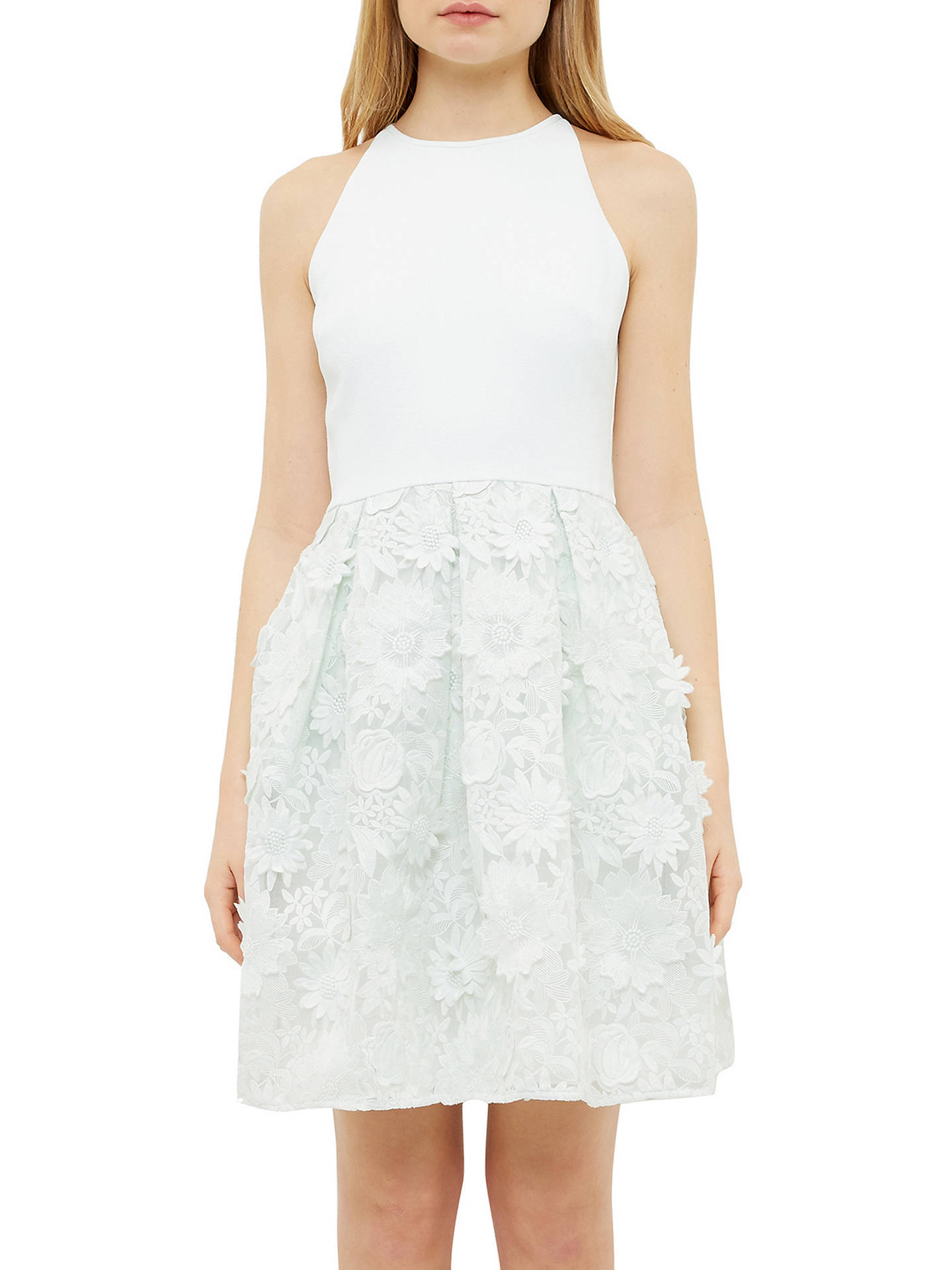 Ted Baker Tie The Knot Lexana Embroidered Flowers Skater Dress