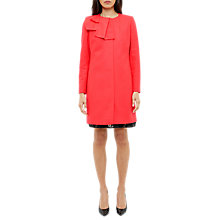 Buy Ted Baker Elani Bow Detail Coat, Mid Orange Online at johnlewis.com