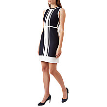 Buy Hobbs Hallie Dress, Navy/White Online at johnlewis.com