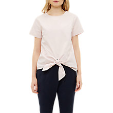 Buy Ted Baker Colour By Numbers Suki Knot Front Cotton Top Online at johnlewis.com