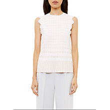 Buy Ted Baker Anyabel Metallic Jacquard Top, Baby Pink Online at johnlewis.com