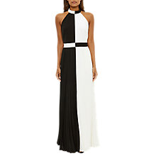 Buy Ted Baker Lixia Pleated Halter Neck Maxi Dress, Black Online at johnlewis.com