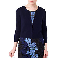 Buy Precis Petite by Jeff Banks Cara Zip Shrug, Navy Online at johnlewis.com