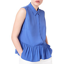 Buy Precis Petite Jeff Banks Peplum Blouse, Mid Blue Online at johnlewis.com
