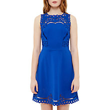 Buy Ted Baker Verony Cutwork Skater Dress, Blue Online at johnlewis.com