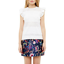 Buy Ted Baker Jesile Stitch Detail Top, Ivory Online at johnlewis.com