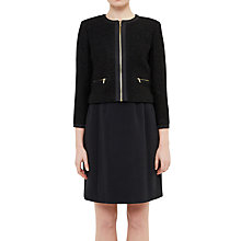 Buy Ted Baker Prutow Boucle Wool Jacket, Black Online at johnlewis.com
