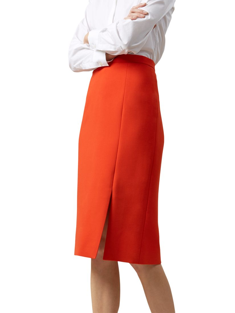 fb4232d42 Hobbs Nina Skirt, Flame Orange at John Lewis & Partners