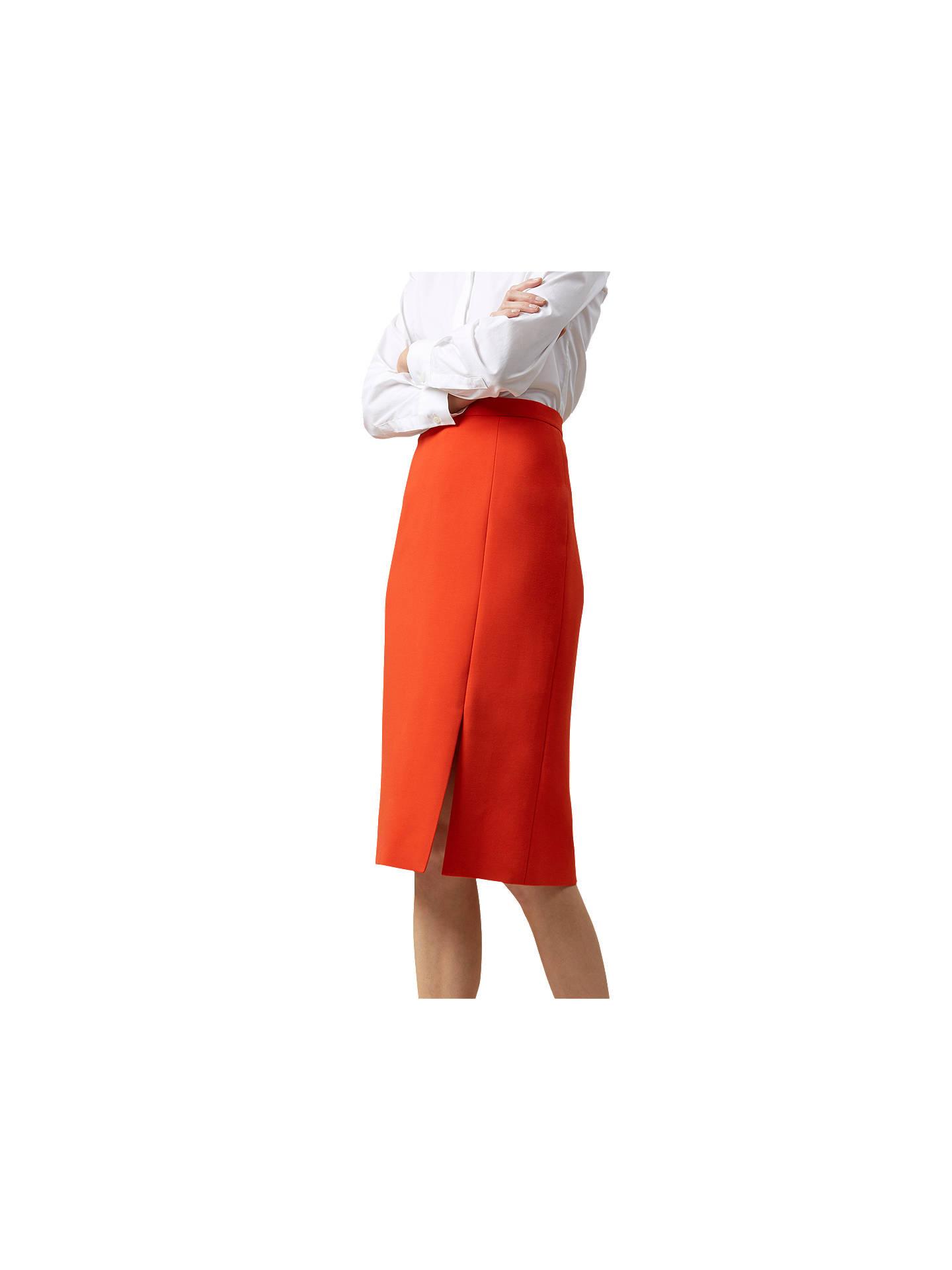 fa5328bcb Buy Hobbs Nina Skirt, Flame Orange, 6 Online at johnlewis.com ...
