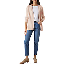 Buy Hobbs Louisa Cotton Cashmere Blend Cardigan, Nude Online at johnlewis.com