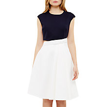 Buy Ted Baker Canda Bow Detail Cut-Out Dress, Navy Online at johnlewis.com