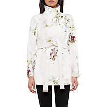 Buy Ted Baker Phillis Spring Meadow Wool Cashmere Blend Wrap Coat, Ivory Online at johnlewis.com
