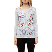 Buy Ted Baker Oriental Jacquard Jumper, Light Grey Online at johnlewis.com
