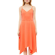 Buy Ted Baker Simbah Scallop Asymmetric Hem Dress, Mid Orange Online at johnlewis.com