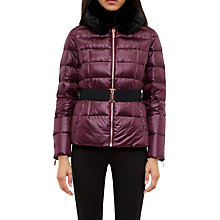 Buy Ted Baker Junnie Quilted Down Filled Jacket, Maroon Online at johnlewis.com