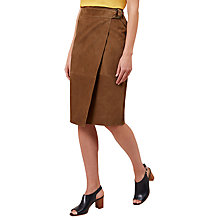 Buy Hobbs Aubrey Suede Skirt, Sand Online at johnlewis.com
