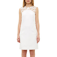 Buy Ted Baker Kirra Applique Lace Detail Tunic Dress, White Online at johnlewis.com