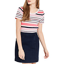 Buy Oasis The Perfect Stripe T-Shirt, Multi Online at johnlewis.com