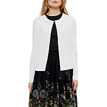 Buy Ted Baker Hetts Ottoman Detail Cardigan, White Online at johnlewis.com