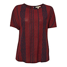 Buy White Stuff Poetry Stripe Top, Adzuki Red Online at johnlewis.com