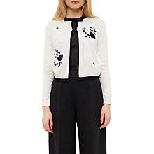 Buy Ted Baker Scarlie Embroidered Cardigan, White Online at johnlewis.com