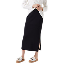 Buy Jigsaw Clean Knit Slit Maxi Skirt, Midnight Online at johnlewis.com