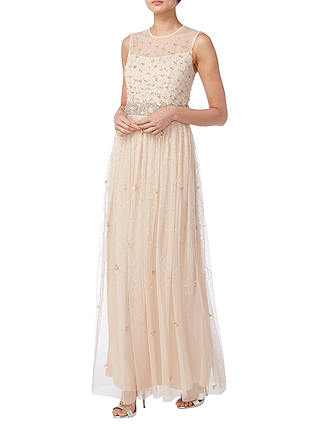 Buy Raishma Stone Work Gown, Blush, 8 Online at johnlewis.com