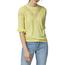 Buy Warehouse Lace Insert Frill Cuff Jumper Online at johnlewis.com