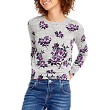 Buy Oasis Wild At Heart Rose Jumper, Mid Grey Online at johnlewis.com