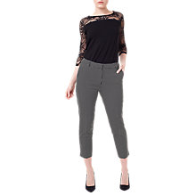 Buy Precis Petite Vivienne Check Trousers, Black/Multi Online at johnlewis.com