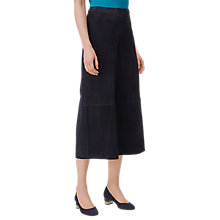 Buy L.K. Bennett Suzi Suede Culottes, Navy Online at johnlewis.com
