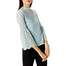 Buy Coast Gigi Textured Lace Top, Mint Online at johnlewis.com
