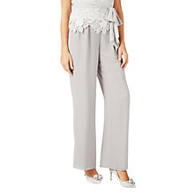 Buy Jacques Vert Chiffon Straight Trousers, Mid Grey Online at johnlewis.com