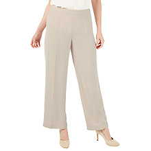 Buy Jacques Vert Petite Straight Leg Trousers, Neutral Online at johnlewis.com