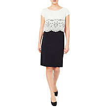 Buy Jacques Vert Cut Work Layered Dress, Black/Multi Online at johnlewis.com