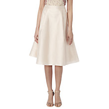 Buy Raishma Taffeta Midi Skirt, Nude Online at johnlewis.com