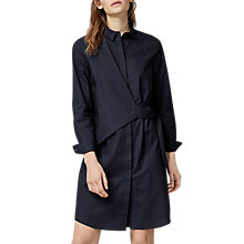 Buy Warehouse Asymmetric Wrap Shirt Dress, Navy Online at johnlewis.com