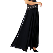Buy Jacques Vert Maxi Skirt, Black Online at johnlewis.com