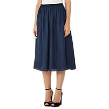 Buy Reiss Alissa Full Midi Skirt, Blue Smoke Online at johnlewis.com