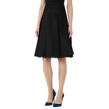 Buy Reiss Adele Jersey Full Skirt, Black Online at johnlewis.com