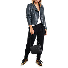 Buy hush Onyx Leather Jacket, Grey Online at johnlewis.com