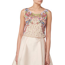 Buy Raishma Floral Embroidered Top, Nude Online at johnlewis.com